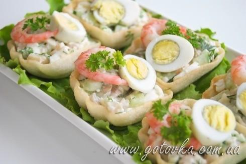 Тарталетки с морепродуктами рецепты с фото