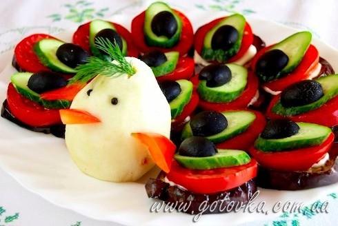 рецепты салаты жаренные из баклажана