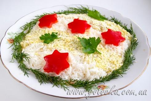 Рецепт салат с лососем консервированным и рисом