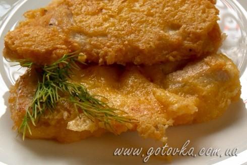 Куриные отбивные в сырной панировке