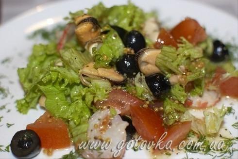 Салат с морепродуктами рецепт без майонеза с