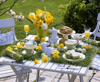 пасхальный стол сервировка