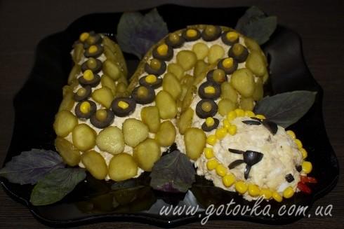 Салат змейка на новый год змеи 2013