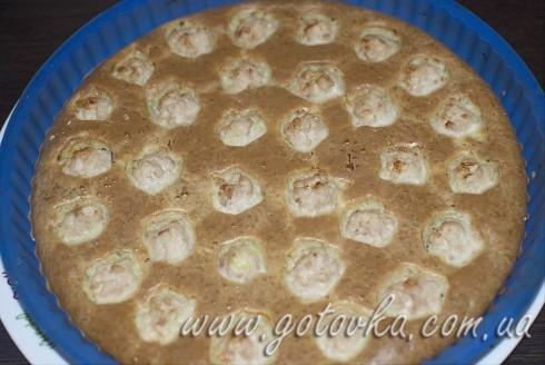 рецепт пирога с мясом с фрикадельками