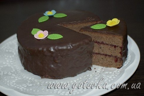 рецепт шоколадный торт с малиновым джемом