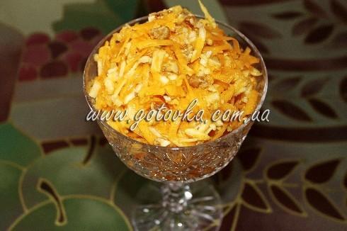 салат с апельсином, яблоком и грецкими орехами рецепт