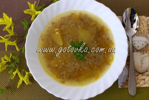 постный суп гречневый