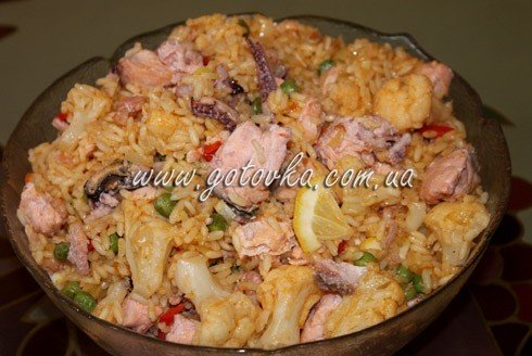 рецепт паэльи с морепродуктами и рыбой