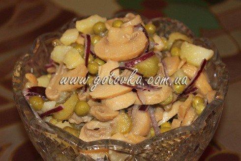 салат картофельный с грибами