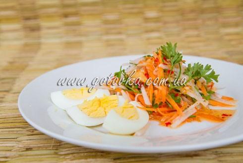 Острый салат с дайконом