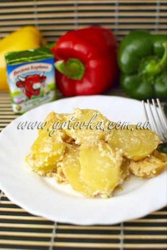 Весело готовим с «Весела Корівка»: картофель с плавленым сыром в духовке