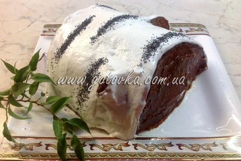 торт березовое полено