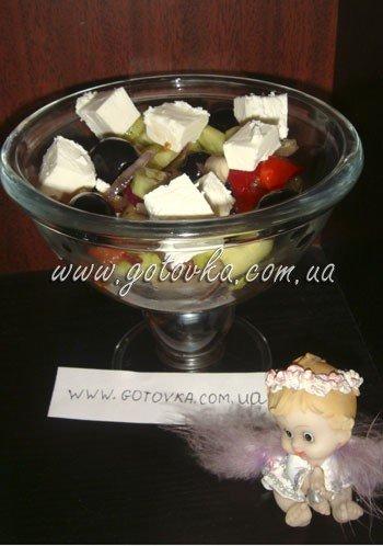 Греческий салат новогодний