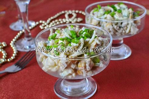 салат с перловкой и куриным филе