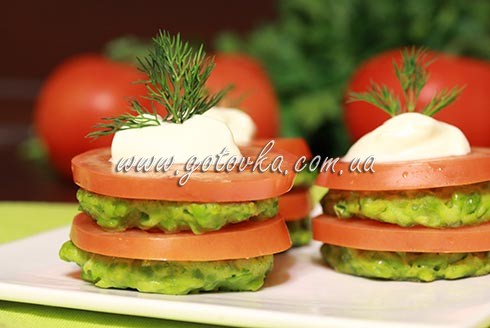оладьи из зеленого горошка