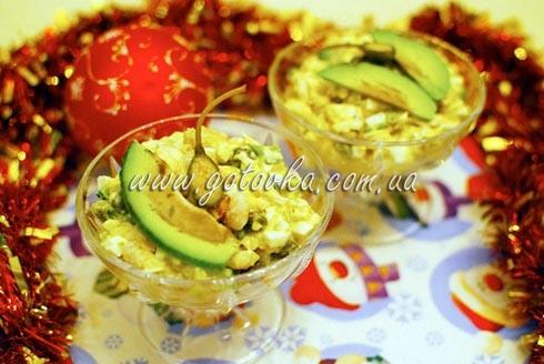 оливье с креветками и каперсами авокадо рецепт с фото