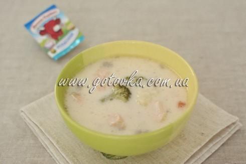 суп семга овощи