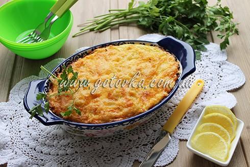 запеканка из рыбы с картофелем