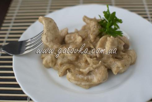 бефстроганов из курицы со сметаной рецепт