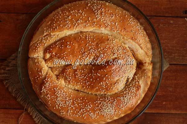 пирог с капутой из дрожжевого теста