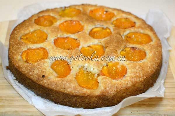 быстрый пирог из абрикос по рецепту высоцкой