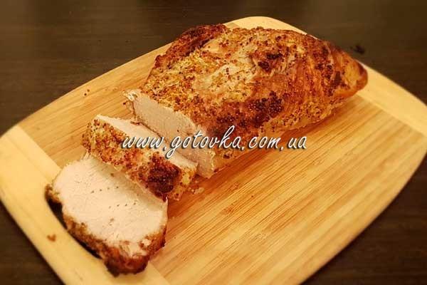 свинина в духовке в фольге с дижонской горчицей